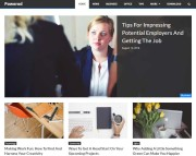 Powered Free Blogging WordPress Theme