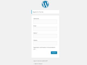 Add Extra Fields in WordPress Registration Form