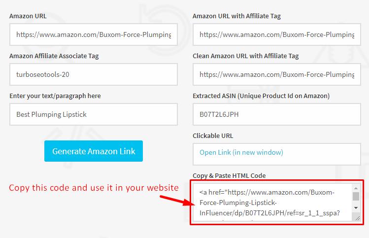 Amazon Affiliate Link Creator