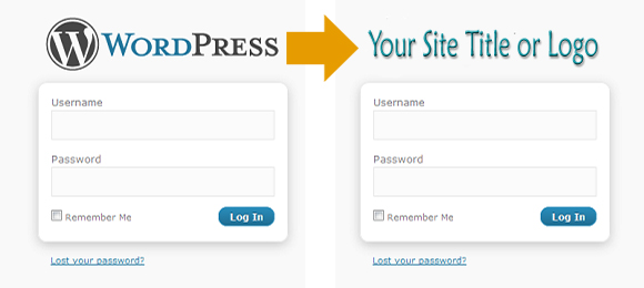 Change WordPress login logo URL, and title