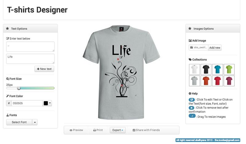 Create T-shirt Design Online