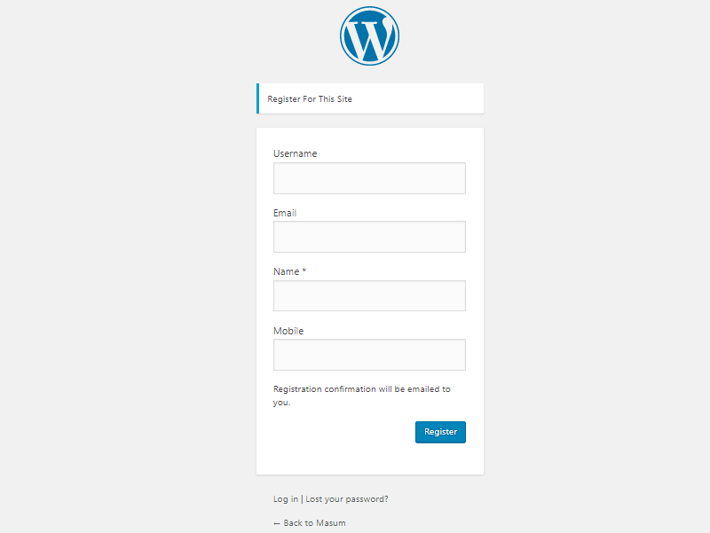 Add Extra Fields in WordPress Registration Form