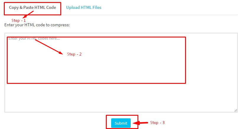 HTML code compressor