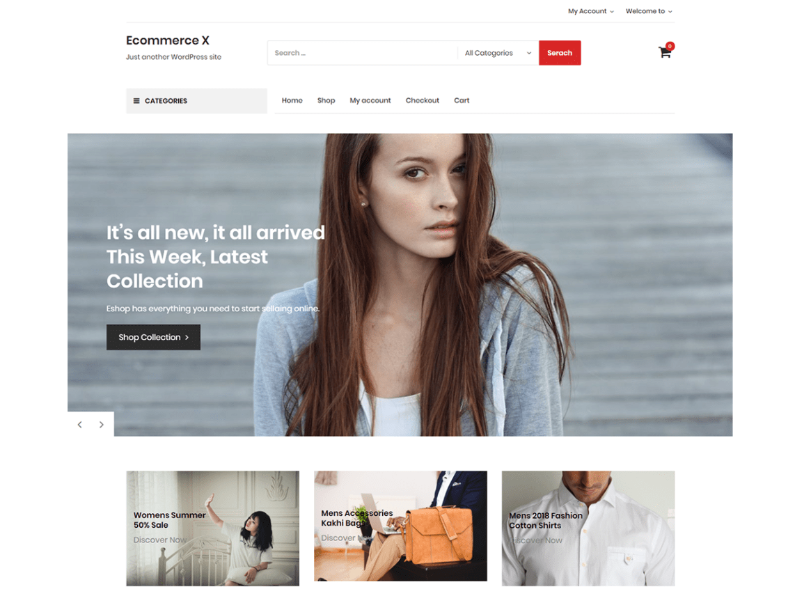Ecommerce X WordPress theme